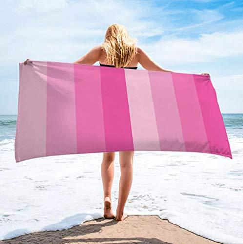 Toallas de Playa 3D Toalla de Playa de Microfibra 80 x 160 cm Supersuave Toalla Deportiva Secado Rápido Absorbente para Deportes, Viajes, Camping Esterilla de Yoga Rosa