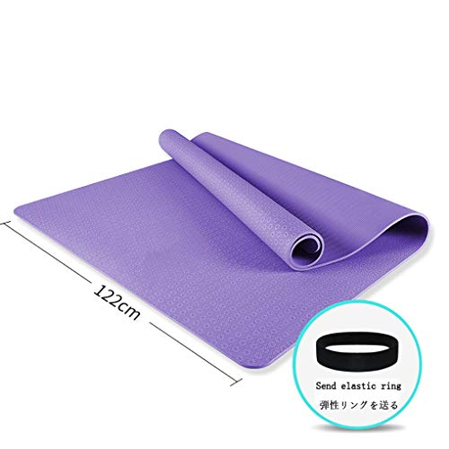 LBYDXD Estera de Yoga Grande, Material de TPE: Superficie Texturizada Antideslizante, Estera de Ejercicio antidesgarro, aeróbicos, Yoga, Pilates, Artes Marciales