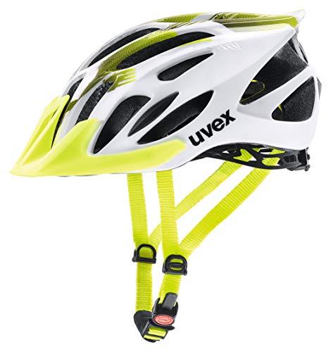 Uvex 4109660317 Casco Ciclismo MTB, Unisex Adulto, Blanco/Verde (Lima), M