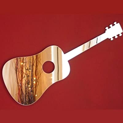 Guitarra acústica espejo - 12 x 6 cm: Amazon.es: Hogar