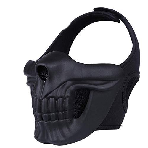 Seniorshop-MX Máscara de Calavera de Halloween Máscaras de Campo al Aire Libre Airsoft Paintball…