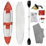 Kayak Hinchable Profesional de Pure2Improve - 325 cm - Juego Completo con Bomba, Herramienta de Remo y Remo Ajustable.