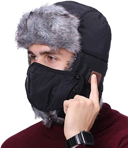 Bluetooth Trapper Hat Winter Trooper Headphone Hat with Wireless Bluetooth 5 0 Windproof Ski product image