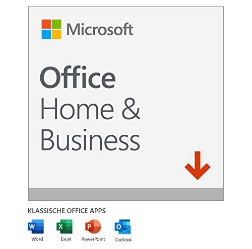 Microsoft Office 2019 Home & Business multilingual | 1 PC (Windows 10) / Mac | Dauerlizenz | Download Code