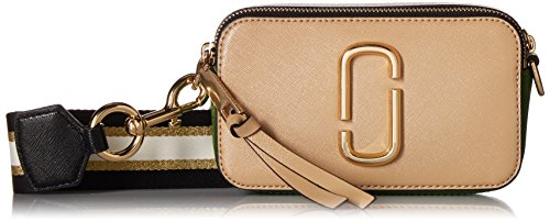 Marc Jacobs Snapshot Leather Shoulder Bag - Sandcastle Multi
