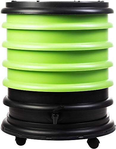 WormBox : Wurmkomposter Wurmfarm mit 4 Schalen Grün - 64 Liter