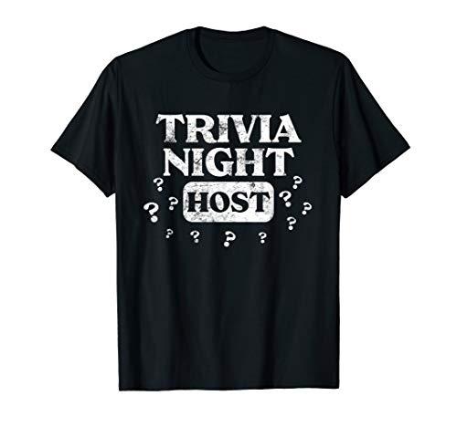 Trivia Night Host Quiz Game Entertainer Moderator Emcee T-Shirt