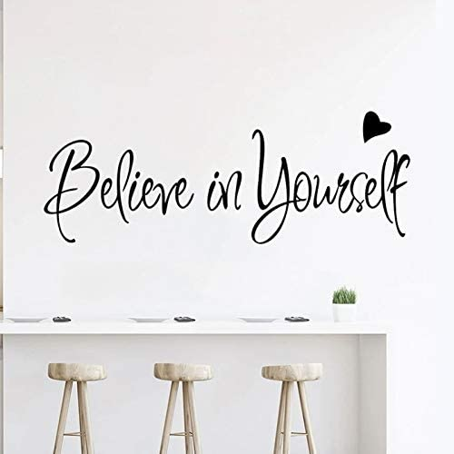 Inspirational Wall Decals Quotes Stickers Believe in Yourself Positive Wall Sayings Motivational product image