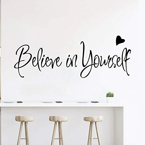 Inspirational Wall Decals Stickers Believe in Yourself Positive Wall Sayings Motivational Wall Quotes Peel and Stick Words Letters Decor for Bedroom, Classroom, Office Gifts