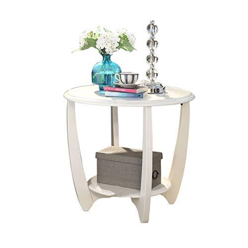Table d'appoint côté canapé Coin en Bois Massif Petite Table Ronde Balcon Table Basse Ronde (Couleur : C)