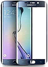 Tingtong Full Coverage Edge-to-Edge 5D Tempered Glass Screen Protector for Samsung Galaxy S6 Edge (Black)