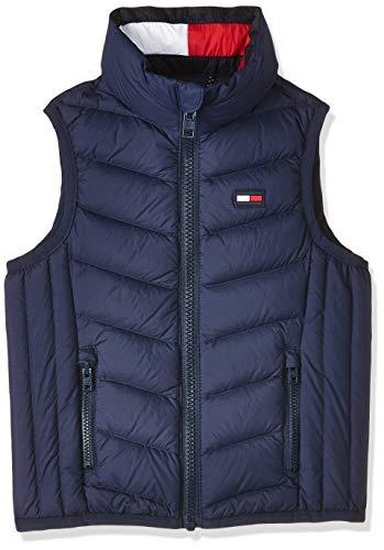 Tommy Hilfiger Unisex Baby U Light DOWN Vest/Gilet Jacke, Blau (Black Iris 002), (Herstellergröße:92)