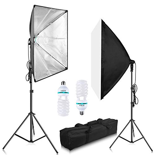 """Softbox Photography Lighting Kit, Gloshooting 1050W Photo Video SoftBox Professional Photographic Studio Set with 5500K Photo Bulb, Light Stand, Softbox - 20""""x28"""" for Commercial, Fashion, Portraits"""