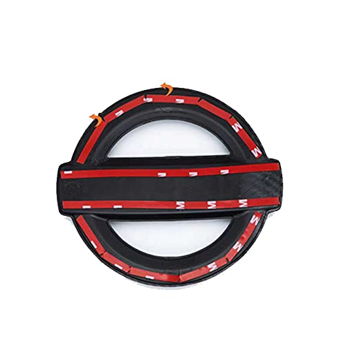 CAIM Emblema del capó Delantero del Coche Emblema del Volante Emblema Pegatina Compatible con la Insignia de Nissan Qashqai Altima Sylphy X-Trall Tiida Bluebird Sunny Auto Logo Accesorios Apliques