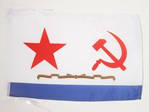AZ FLAG Flagge SOWJETISCHE Marine 45x30cm mit Kordel - SEEKRIEGSFLOTTE DER UDSSR Fahne 30 x 45 cm - flaggen Top Qualität