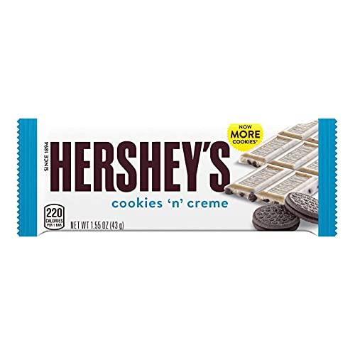 HERSHEY'S COOKIES 'N' CREME Candy, Halloween, 1.55 oz Bars (36 ct)