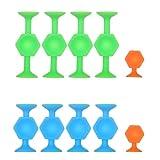 Pop Darts Family Interactive Games Juguete de silicona Divertido Trickshot Stickit Set Interior Outdoor Stress Relief
