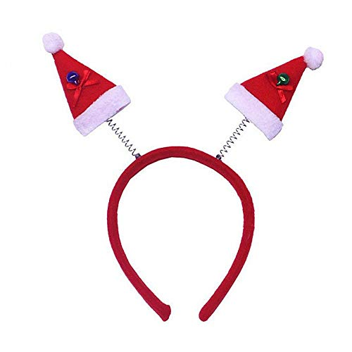 YUY Christmas Headband, Reindeer Antler Xmas Tree Head Hat Toppers Costume Headbands For Christmas Holiday Parties,9