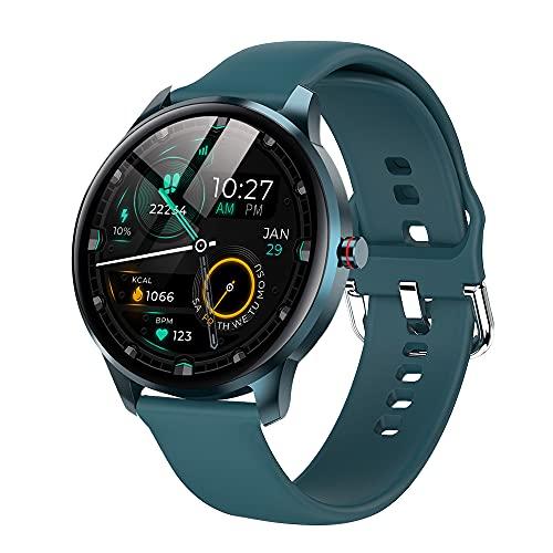 LEMFO Smartwatch für Damen Herren, Fitnessuhr Sportuhr mit Blutdruckmessung, IP68 Wasserdicht Fitness Tracker Smart Watch mit Schrittzähler Pulsuhr Schlafmonitor for Ios Android