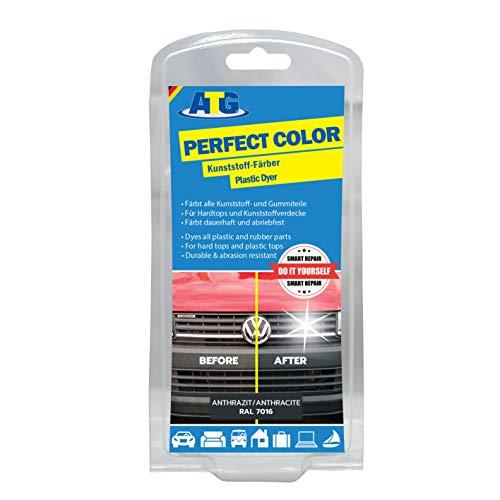 ATG Restaurador de plasticos: pintura para plasticos reparador parachoques,ANTRACITA