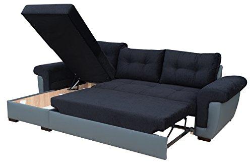 Eck-Schlafsofa mit großem Speicherraum