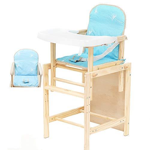 Chaises Hautes MYL 2 en 1 en Bois Convertible avec Pieds Coussin Et Réglable for Bébés Et Tout-Petits (6 Mois Jusqu'à 110lbs) (Color : Style 1)