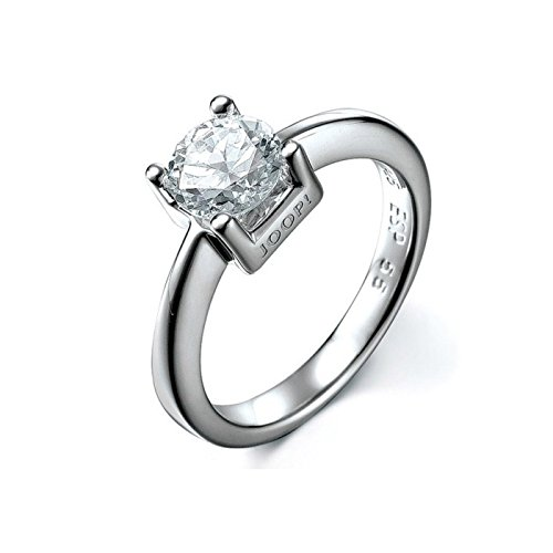 Joop! Damen-Ring 925 Silber Zirkonia weiß Gr. 55 (17.5) - JPRG90735A550