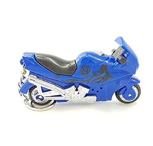 Familienkalender Schlüsselanhänger Motorrad mit LED und Sound  Motorstart und ab die Post  blau Motorrad