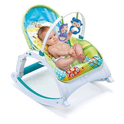 QULONG Columpio eléctrico portátil para bebé, Columpio para bebé, Hamaca y Silla para bebés recién Nacidos, Silla Mecedora con música