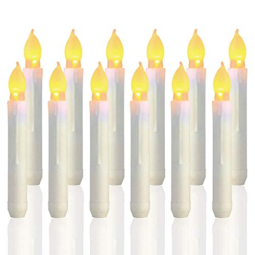 Favson 12 velas LED sin llama, funcionan con pilas, velas flotantes de...