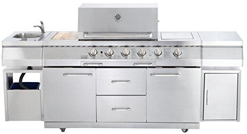 Allgrill, grill a gas per cucina da esterno, modello