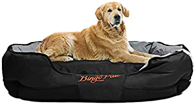 BingoPaw Dog Bed Water-Resistant Pet Bed Multifunctional Washable Puppy Padded Soft Pad Removable Detachable for Medium Large Extra Cats Dogs