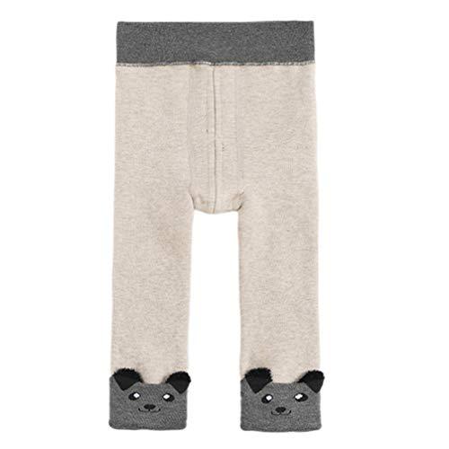 Soimis - Pantalones de invierno para niños de bajo edad, pantalones de invierno para bebé forrados con forro polar grueso de algodón térmico de felpa, medias elásticas para niños y niñas