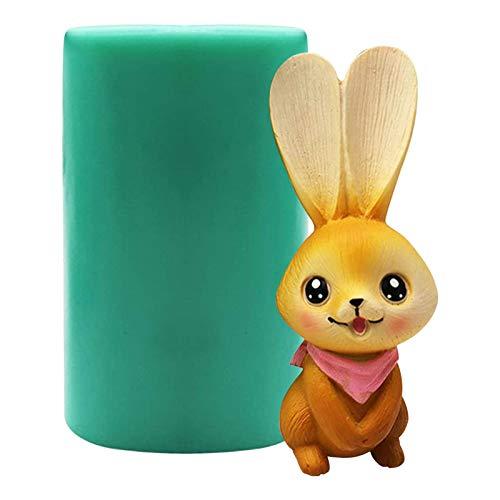 Molde de silicona 3D para tartas de conejo de Pascua