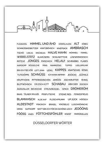 MOTIVISSO Düsseldorfer Wörter #1 Poster Düsseldorf 10 Größen & Verschiedene Designs