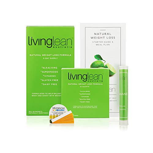 Living Lean Immunity Detox Cleanse Kit for 5 Days- Vegan All Natural Organic-Alkaline Your Body for Healthy & Sustainable Weight Loss Digestion Support-Powerful Colon, Kidney, Bowel Cleanser
