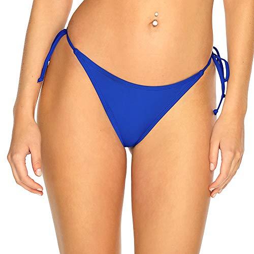 RELLECIGA ba?Ador Braguita Bikini para Mujer Tangas Thong Bottom Royal Azul XS S