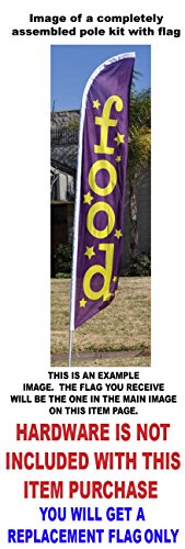 Insurance Aseguranza Feather Banner Swooper Flag - NO WIND REQUIRED - Replacement FLAG ONLY
