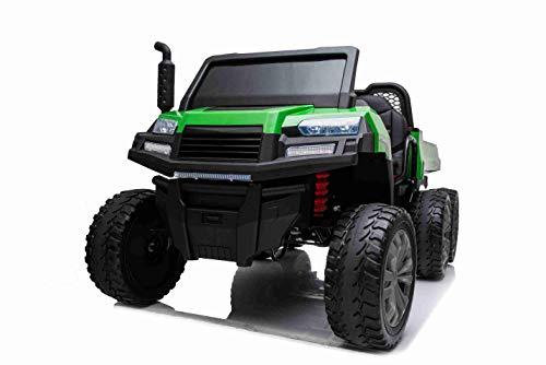 Coche eléctrico Rider 6X6, 24V, con tracción en Las 4 Ruedas - 4X 100W, batería de 24V, Ruedas EVA, Ejes de suspensión, Control Remoto de 2.4 GHz, 2 plazas, Reproductor de MP3, Bluetooth