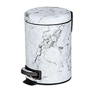 3 L, Acero, 17 x 25 x 22,5 cm Wenko 23554100 Onyx Cubo de Basura con Pedal
