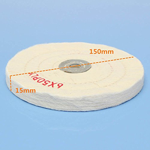 KINWAT 6'' Sale special price Buffing In a popularity Polishing Wheel Pad Buffer Polish White Round