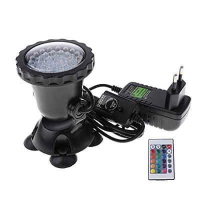 D DOLITY LED Unterwasserleuchte Unterwasserstrahler Unterwasser Spot Licht Wasserdicht IP67 RGB Farbwechsel Unterwasserbeleuchtung mit 24 Key Fernbedienung für Aquarium Garten Schwimmbad Teich