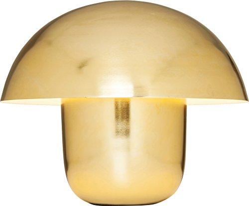 Kare Design Tischleuchte Mushroom Messing, moderne, große Tischlampe, Metall, Designerlampe Pilzoptik gold, Nachttischlampe Mushroom, 1x E27 exkl. (H/B/T) 44x50x50cm [Energieklasse A]