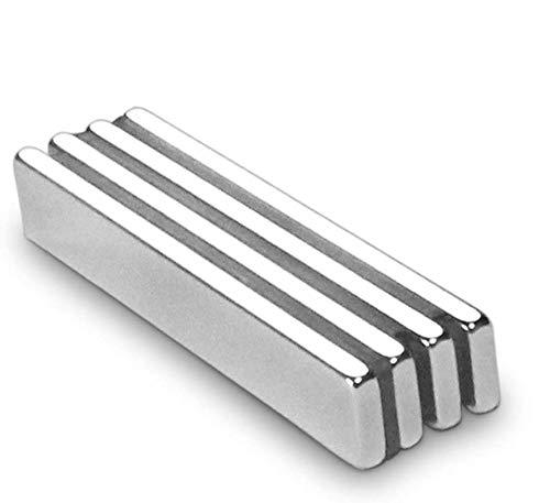 Magnets 4 unidades, Para la cocina, Experimentos científicos, diseño de bricolaje del imán Rectangular Super del neodimio(60 x10 x 5 mm)