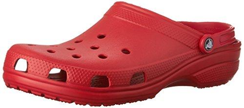 Crocs Scarpe Sandali Ciabatte Unisex Classic in Gomma Rossa 10001-6EN