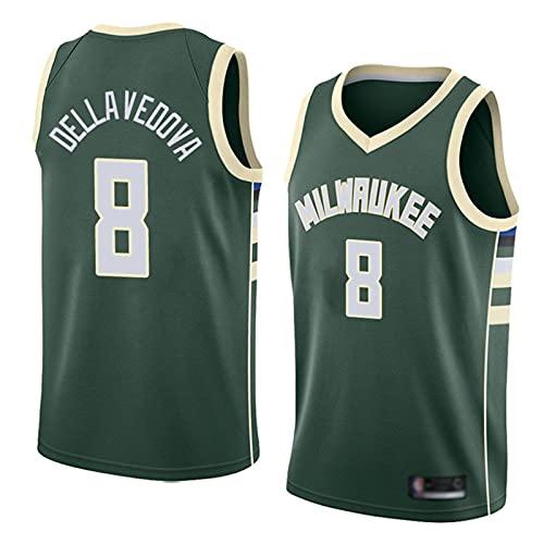 HTTC Bücks Men's Basketball Jersey, Uniforme de Equipo Personalizado, Letras y números prensado en Caliente Negro/Blanco/Verde S-XXL Green-XL