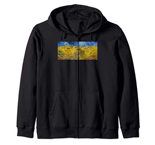Champ de blé aux corbeaux Quadro Moderno Van Gogh Felpa con Cappuccio