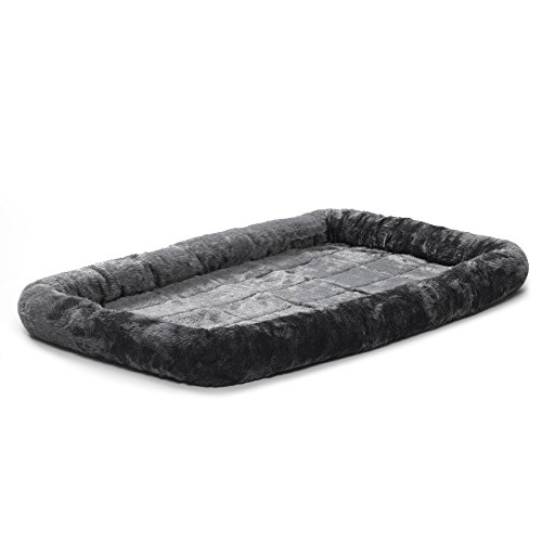 48L-Inch Gray Dog Bed or Cat Bed w/ Comfortable Bolster | Ideal for Extra Large...