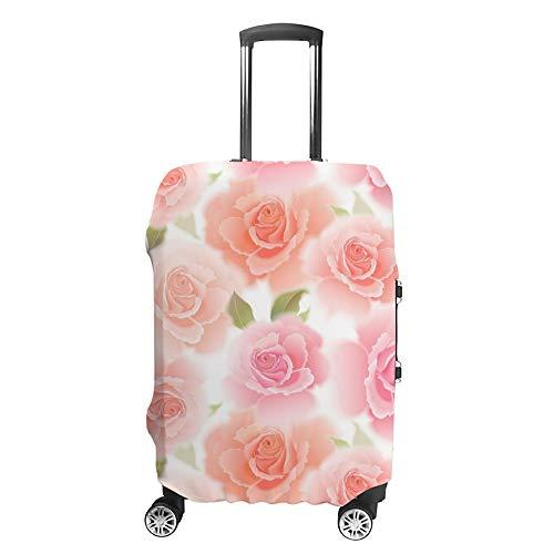 Ruchen - Funda Protectora para Maleta, diseño Vintage, Color Rosa Pastel