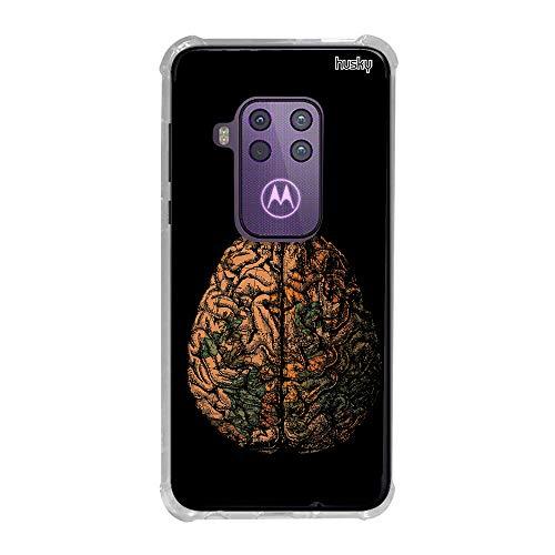 Capa Anti-Impacto Personalizada para Motorola One Zoom - Cérebro Mundi - Husky